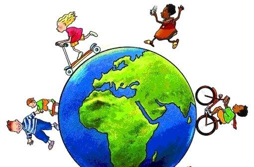 Kinder laufen und lernen für den Klimaschutz
