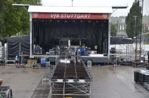 So läuft der Aufbau für das VfB-Public-Viewing