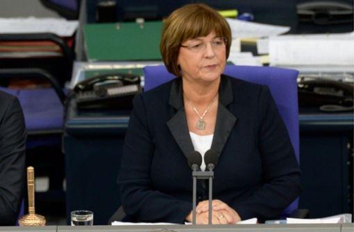 Die ehemalige Gesundheitsministerin Ulla Schmidt im Bundestag Foto: Datei