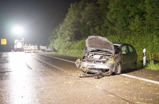 Am Freitagabend ereignet sich auf der B 27 bei Pliezhausen ein schwerer Verkehrsunfall. Foto: 7aktuell.de/Rafal Niewienda