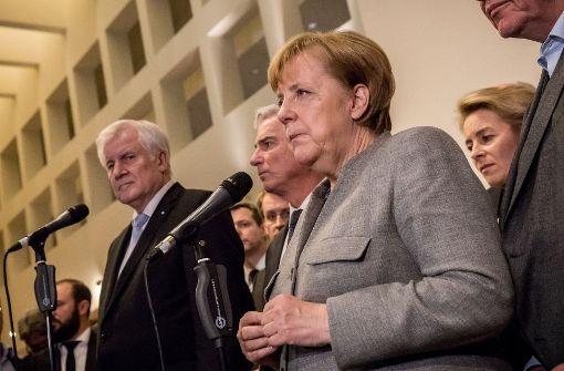 Die Unterhändler nach den gescheiterten Koalitionsverhandlungen Foto: dpa