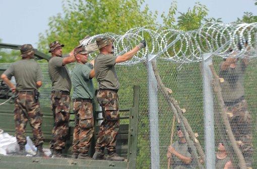 Ungarn beschleunigt Zaunbau