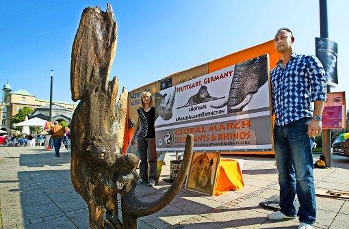 Protest gegen Wilderei und Elfenbeinhandel