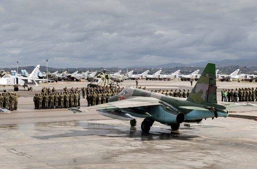 Russland fliegt von Militärbasen in Syrien aus Angriffe gegen den IS. Foto: dpa