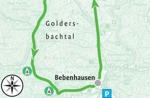 Durch das idyllische Goldersbachtal