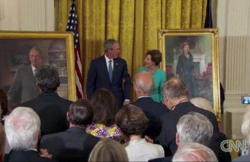 Bush und Obama im Weißen Haus
