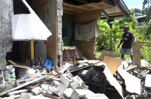 Nach einem heftigen Beben der Stärke 7,8 sorgen zahlreiche Nachbeben im pazifischen Inselstaat Salomonen für Unruhe. Foto: AP/World Vision Solomon Islands