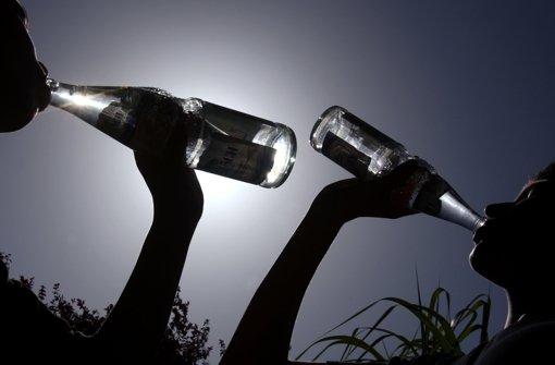 Die Glasflasche kehrt elegant zurück