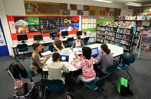 In diesen Räumen wird das Lernen angeregt und macht auch noch Spaß: Unterricht in der Internationalen Schule in Stuttgart-Degerloch. Foto: Mierendorf