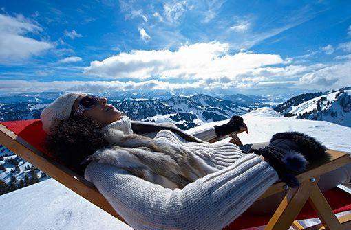 Sonne tanken auf der Hütte  Foto: Oberstaufen Tourismus