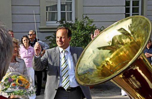 Werner Spec – hier nach seiner Wiederwahl 2011 –   gibt am liebsten einen flotten Takt vor. Foto: factum/Archiv