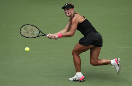 Angelique Kerber hatte in der ersten Runde Mühe, am Ende setzte sich sich aber gegen Margarita Gasparjan durch. Foto: AP