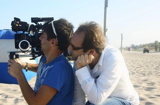 Marcus Vetter (re.) und Michele Gentile beim Dreh. Foto: