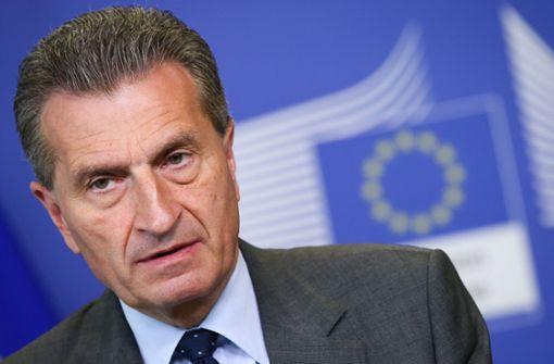 Günther Oettinger (CDU) ist in Brüssel für den EU-Haushalt zuständig. Foto: EPA