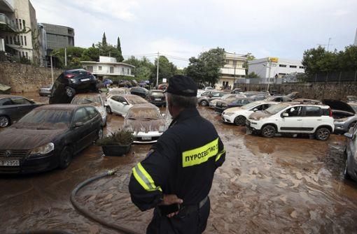 Nach Bränden Überschwemmungen in Athen