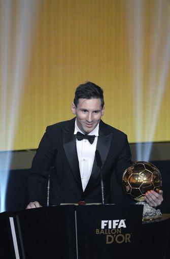 Lionell Messi, Weltfußballer 2015 Foto: dpa