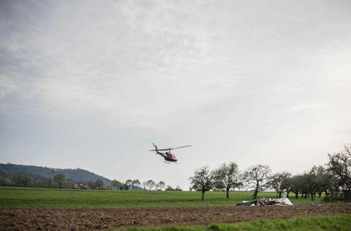 Beim Zusammenstoß zweier Kleinflugzeuge in der Nähe von Schwäbisch Hall im Nordosten Baden-Württembergs... Foto: SDMG