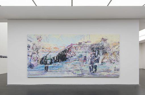 """Eröffnen den """"Kubus""""-Reigen im Kunstmuseum Stuttgart: Werke von Corinne Wasmuht Foto: Frank   Kleinbach"""