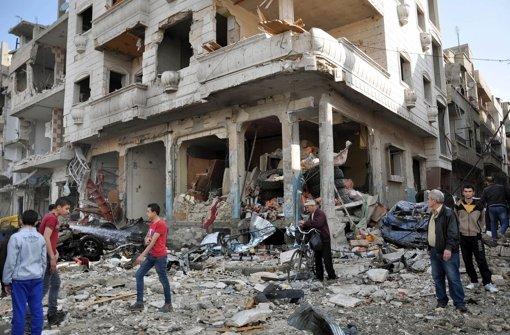 Weite Teile Syriens liegen in Trümmern – Russlands Präsident Putin will den Großteil seiner Streitkräfte nun aus dem Land abziehen. Foto: EPA