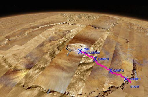 Online-Albverein besteigt höchsten Vulkan des Sonnensystems