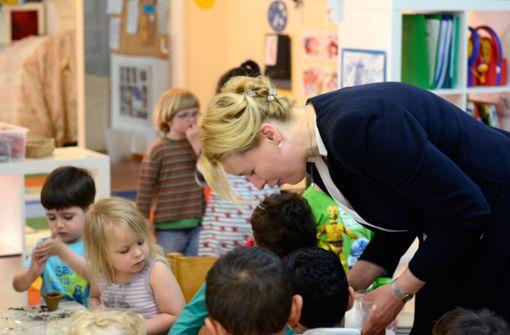 Familienministerin Franziska Giffey setzt sich mit einem Gesetzesentwurf für eine besser Kita-Qualität ein. Foto: dpa