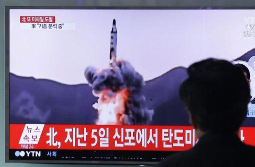 Kim Jong Un lässt erneut Rakete abfeuern