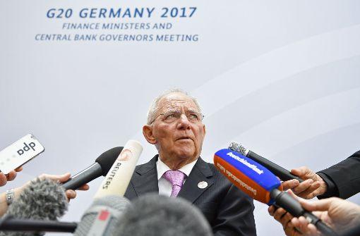 Schäuble will Eklat mit den Amerikanern vermeiden
