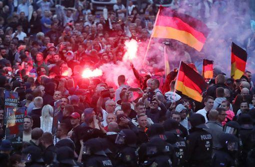 Die Rechten machen mobil in Chemnitz. Foto: dpa