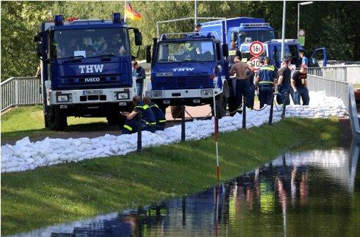 Leonberger kämpfen weiter gegen das Hochwasser
