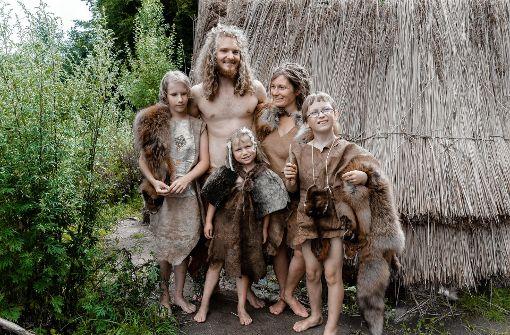 Roni und Sofie aus Norwegen sind mit ihren Kindern Roo, Soini und Tuuli angereist. Foto: dpa