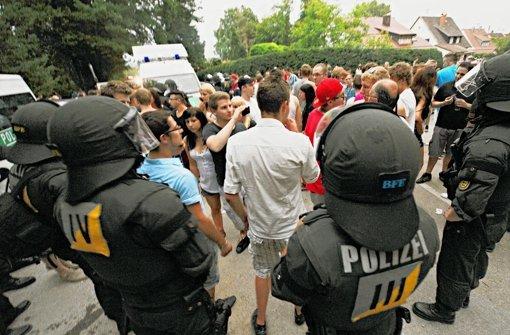 Im Juni Hatte Die Polizei In Backnang Alle Hnde Voll Zu Tun Um Auf Einer