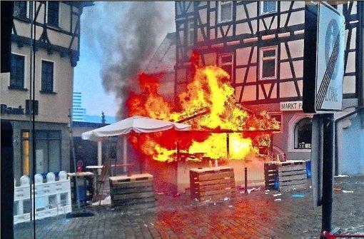 Explosion beim Pferdemarkt:  offene Gasflasche