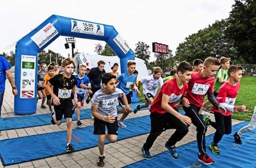 City-Run  hofft am Samstag  auf Sonnenschein