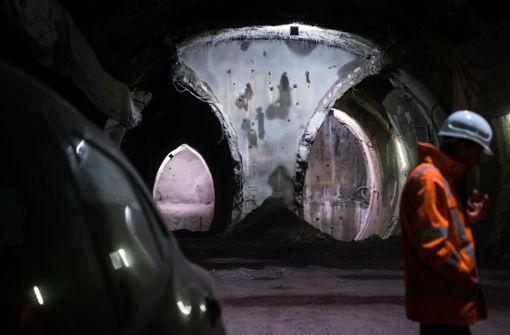 Der Durchschlag im ersten von zwei Tunneln ist geglückt, die Feuerbach mit dem Tiefbahnhof verbinden. Foto: Lichtgut/Max Kovalenko