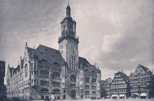 Das alte Stuttgarter Rathaus in den 1930er Jahren. 1944 brannte es nach Bombenangriffen komplett aus. Foto: Matthias Kapaun