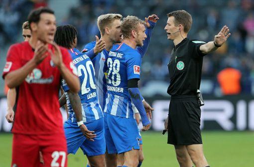 Hertha BSC mit gefühlter Niederlage gegen den SC Freiburg