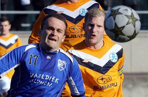 Stierle für die Kickers II gegen Bissingen. Foto: Baumann