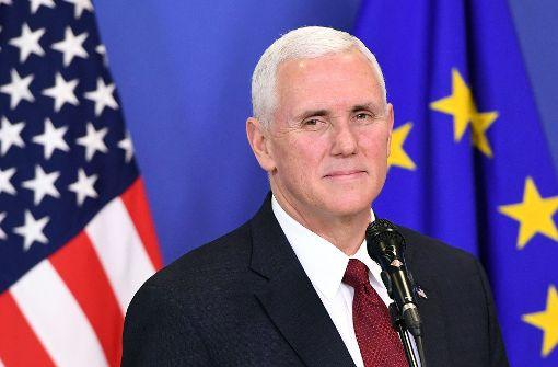 Im Namen von Trump sichert Pence EU-Zusammenarbeit zu