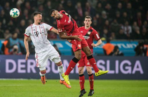 Bayern München setzte sich zum Rückrundenauftakt in der Bundesliga mit 3:1 beim Tabellenvierten Bayer Leverkusen durch. Foto: dpa