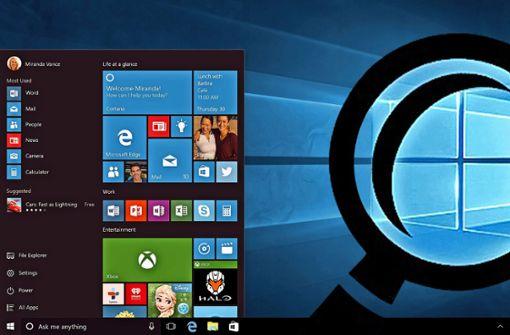 Windows 10 ist nicht ganz dicht
