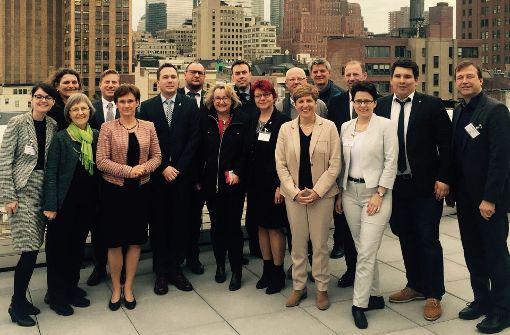 Der Wissenschaftsausschuss in New York Foto: Landtag