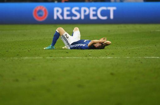 Der FC Schalke 04 unterliegt in der Europa League Ajax Amsterdam. Foto: AFP