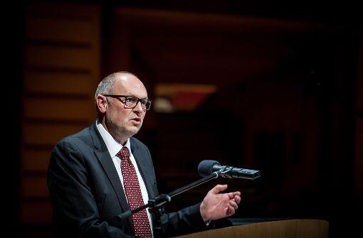 """Werner Gann setzt als Abteilungsleiter des Musikgymnasiums nicht auf Druck: """"Wir machen Angebote."""" Foto: Oliver Röckle"""