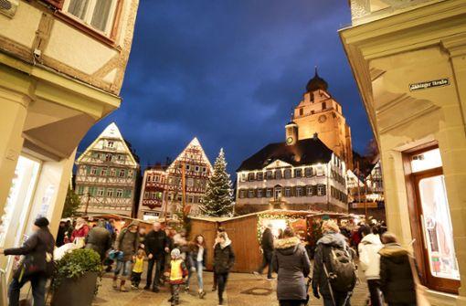 Weihnachtmärkte trotzen dem Regen