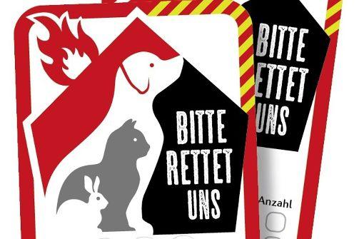Diesen Sticker kann man auf der Webseite der Schweizer Tierschutzorganisation Vier Pfoten bestellen. Foto: Vier Pfoten