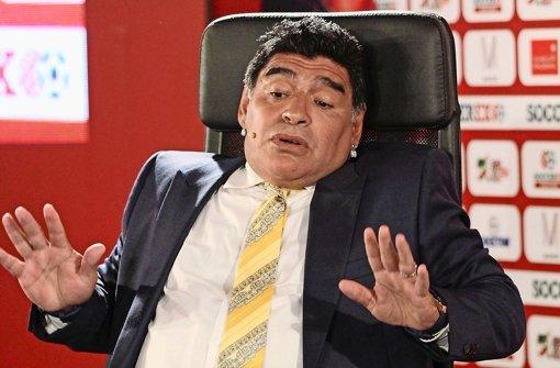 """Der ehemalige argentinische Fußballer Diego Maradona über sein Hand-Tor bei der WM 1986 im Spiel gegen England: """"Es war die Hand Gottes.""""  Foto: dpa"""