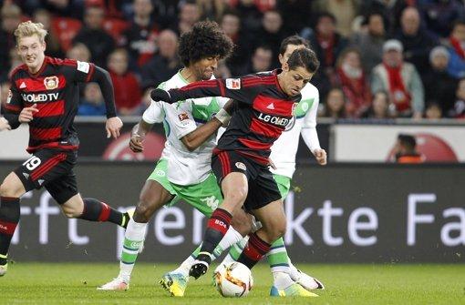 Bayer gewinnt, Wolfsburg im Europacup-Rennen abgehängt