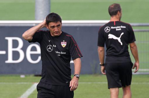 Die Leistungen seiner Mannschaft stimmen Tayfun Korkut nachdenklich Foto: Baumann
