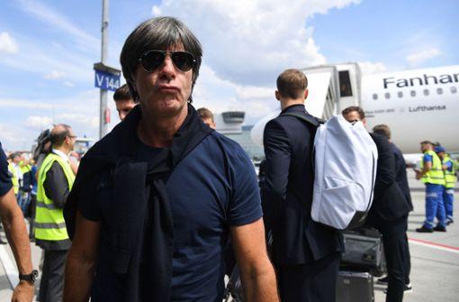 Kurz angebunden: Bundestrainer Joachim Löw. Foto: dpa