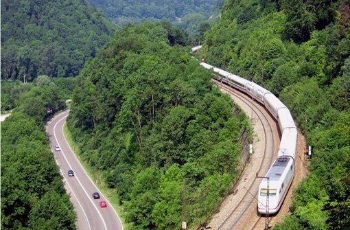 Die Geislinger Steige am Alb-Aufstieg zwischen Stuttgart und Ulm gelegen. Foto: dpa